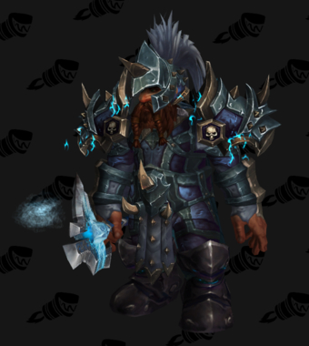 Death Knight PvP Arena Warlords Season 1 Epic Alliance Male Set