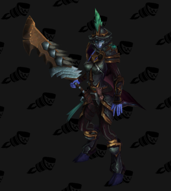 Death Knight PvE Arena Warlords Season 2 Blue Alliance Female Set