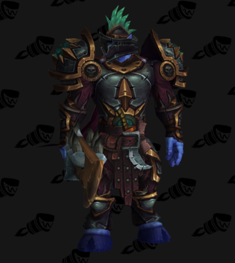 Death Knight PvP Arena Warlords Season 2 Blue Alliance Male Set