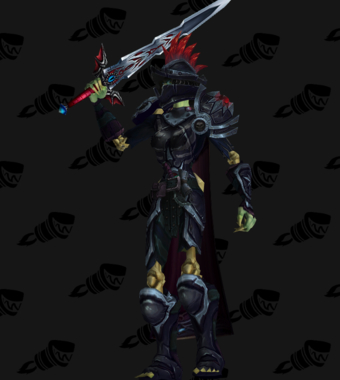Death Knight PvE Arena Warlords Season 2 Blue Horde Female Set
