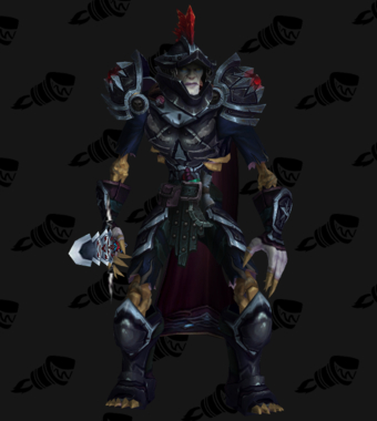 Death Knight PvP Arena Warlords Season 2 Blue Horde Male Set