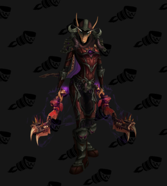 Death Knight PvE Arena Warlords Season 2 Epic Horde Female Set