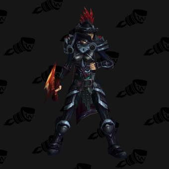 Death Knight PvE Arena Warlords Season 3 Blue Alliance Female Set