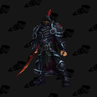 Death Knight PvP Arena Warlords Season 3 Blue Alliance Male Set
