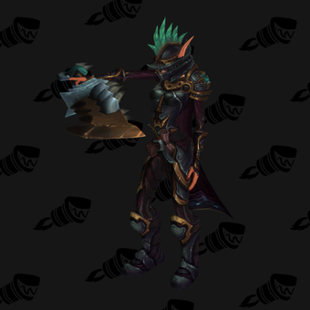 Death Knight PvE Arena Warlords Season 3 Blue Horde Female Set