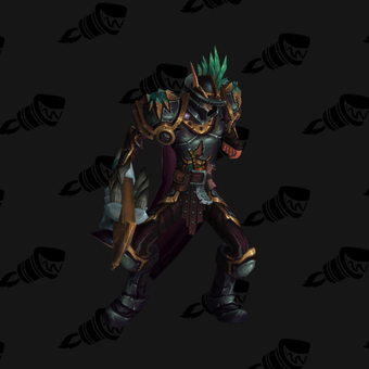 Death Knight PvP Arena Warlords Season 3 Blue Horde Male Set
