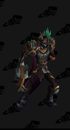 Death Knight PvP Arena Warlords Season 3 Horde Male Set
