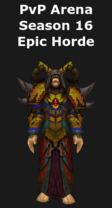 Druid PvP Arena Season 16 Epic Horde Set