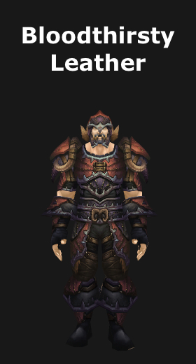transmogrification leatherworking leather armor sets wod
