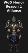 Warlords of Draenor Season 1 Honor Alliance Leather Set