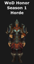 Warlords of Draenor Season 1 Honor Horde Leather Set
