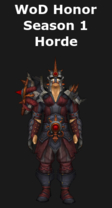 Warlords of Draenor Season 1 Honor Horde Mail Set