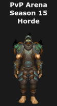 Monk PvP Arena Season 15 Horde Set