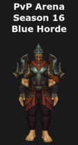 Monk PvP Arena Season 16 Blue Horde Set