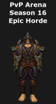 Monk PvP Arena Season 16 Horde Set