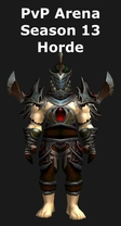 Paladin PvP Arena Season 13 Horde Set