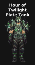 Hour of Twilight Plate Tank Set