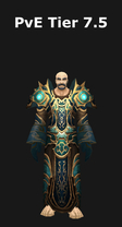 Priests have 2 tier 7 5 sets a healing set and a dps set these sets