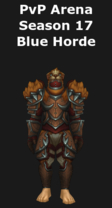 Rogue PvP Arena Season 17 Blue Horde Set