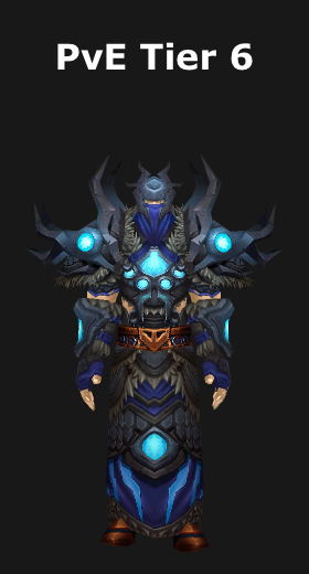 transmogrification shaman pve tier 6 set wod 62 world