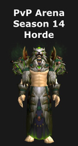 Shaman PvP Arena Season 14 Horde Set