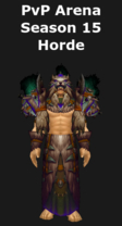 Shaman PvP Arena Season 15 Horde Set