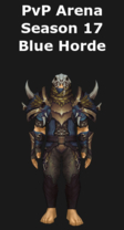 Shaman PvP Arena Season 17 Blue Horde Set