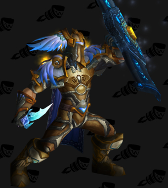 Golden Blue-Winged Paladin Plate Transmog