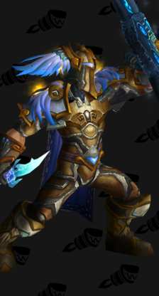 Golden, Blue-Winged Paladin Plate Transmog
