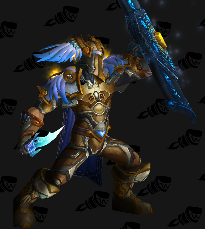 Golden Blue-Winged Paladin Plate Transmog ... & Transmogrification Death Knight Plate Sets Guide (Legion 7.1.5 ...