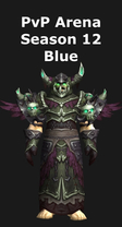 Warlock PvP Arena Season 12 Blue Set
