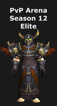 Warlock PvP Arena Season 12 Elite Set