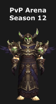 Warlock PvP Arena Season 12 Set