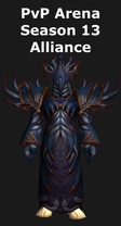 Warlock PvP Arena Season 13 Alliance Set