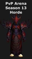 Warlock PvP Arena Season 13 Horde Set