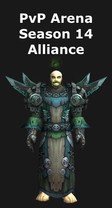 Warlock PvP Arena Season 14 Alliance Set
