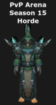 Warlock PvP Arena Season 15 Horde Set