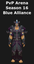 Warlock PvP Arena Season 16 Blue Alliance Set