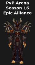 Warlock PvP Arena Season 16 Epic Alliance Set