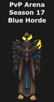 Warlock PvP Arena Season 17 Blue Horde Set