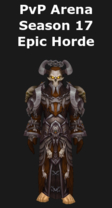 Warlock PvP Arena Season 17 Epic Horde Set