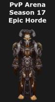 Warlock PvP Arena Season 17 Horde Set