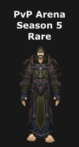 Warlock PvP Arena Season 5 Rare Set