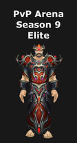 Warlock PvP Level Arena Season 9 Elite Set
