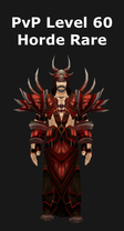 Warlock PvP Level 60 Horde Rare Set