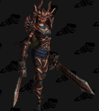 Warrior PvE Arena Season 13 Horde Female Set