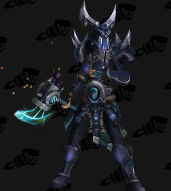 Warrior PvE Arena Warlords Season 1 Blue Alliance Female Set