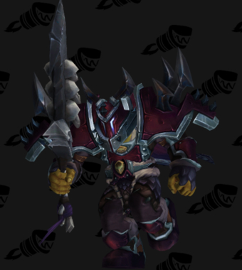 Warrior PvP Arena Warlords Season 1 Blue Horde Male Set