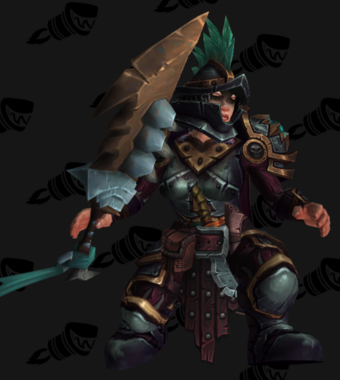 Warrior PvE Arena Warlords Season 2 Blue Alliance Female Set