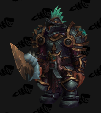 Warrior PvP Arena Warlords Season 2 Blue Alliance Male Set